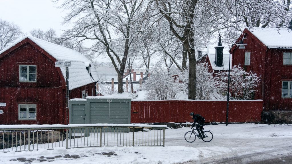 winter cycling södermalm