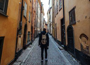 путешественник в Стокгольме