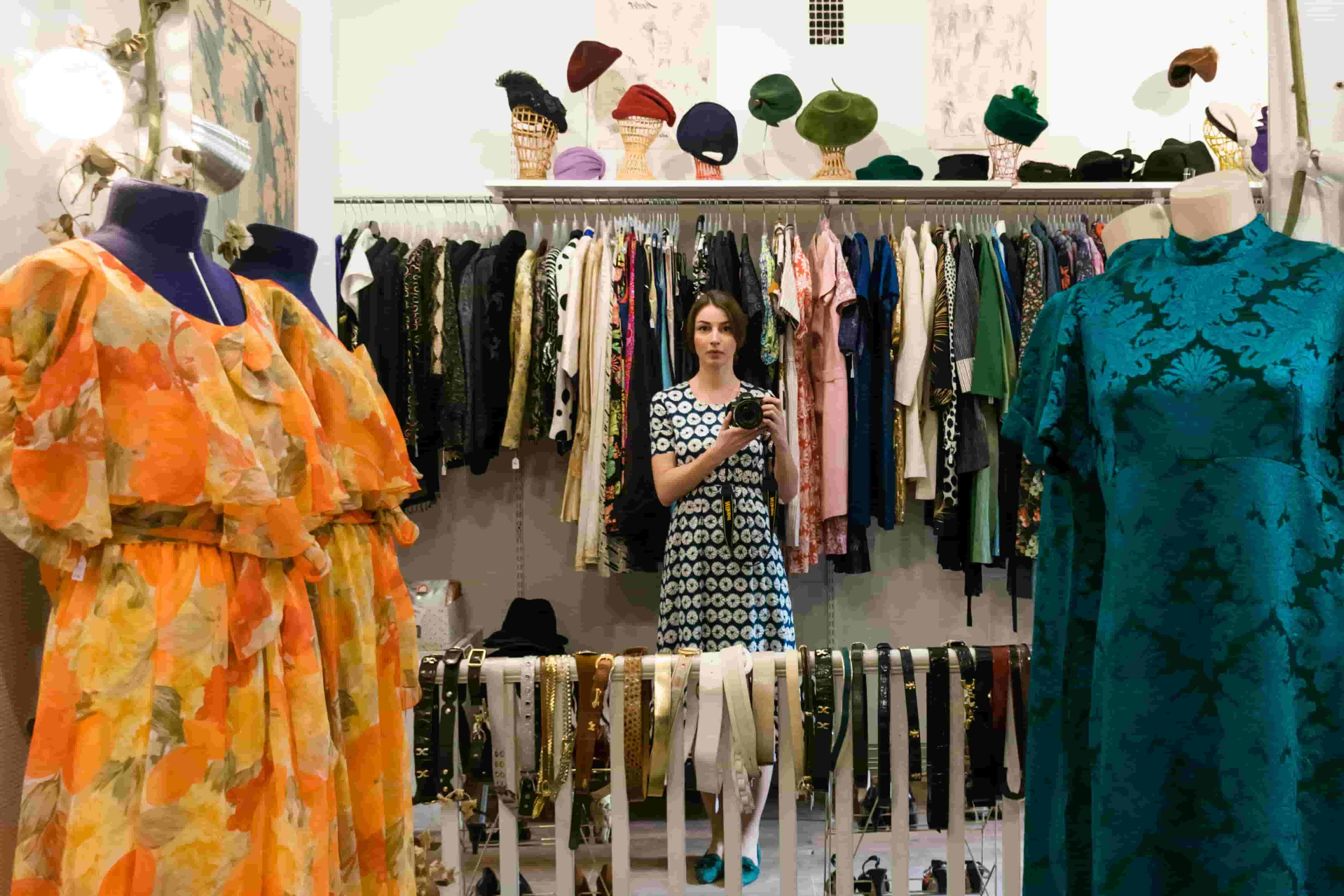 Inside Lotta Vintage store Stockholm