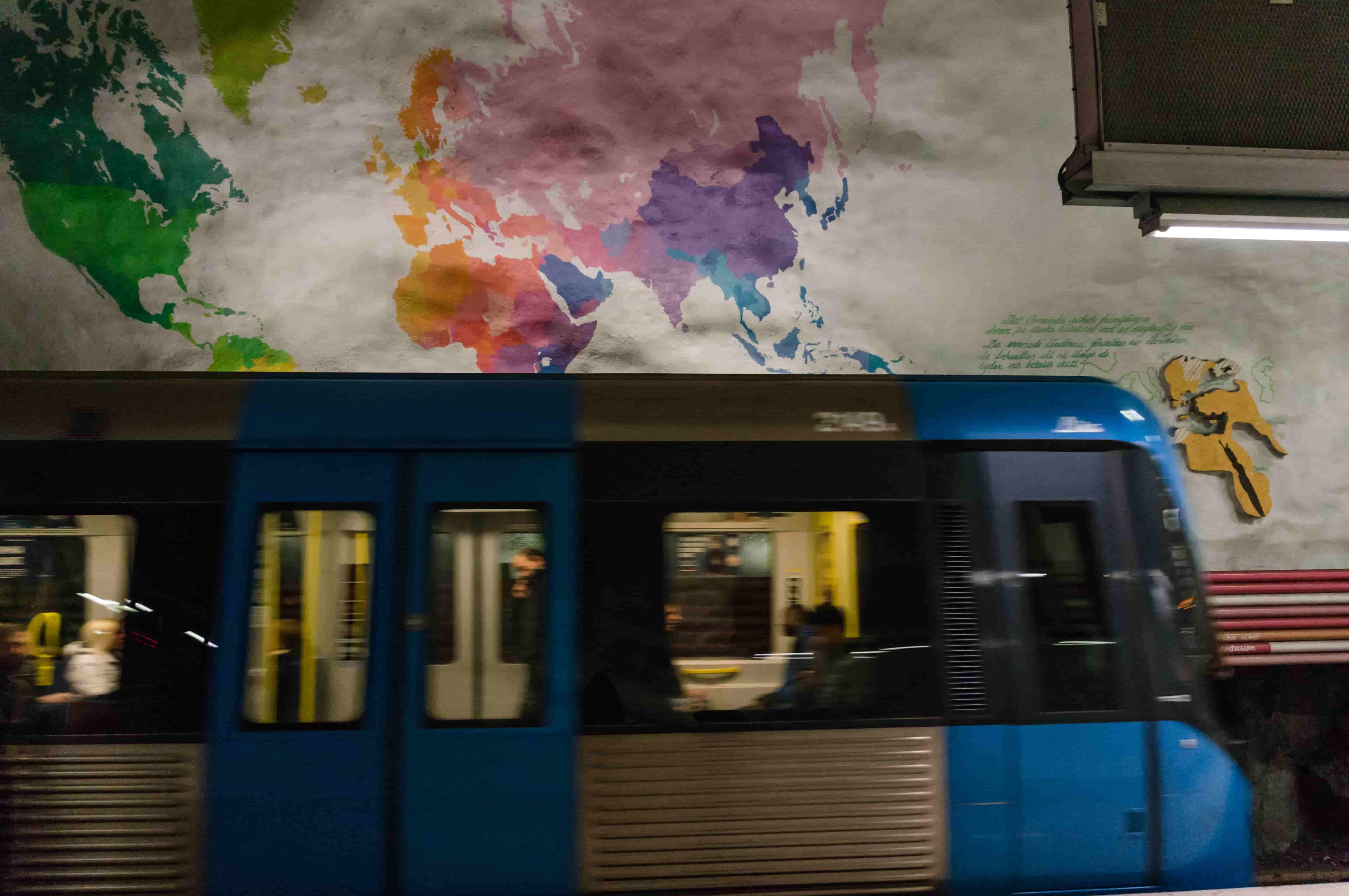 tunnelbanan rissne stockholm