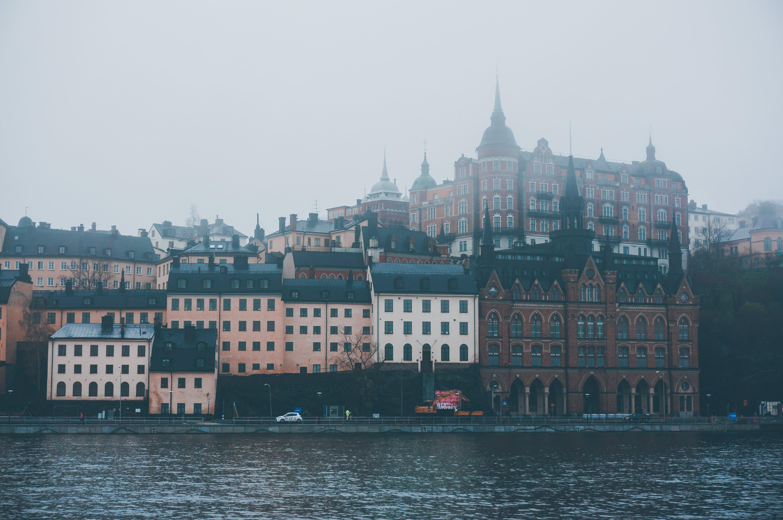 Красивые виды туманного Стокгольма