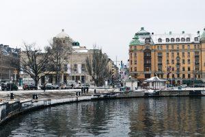 Winter Stockholm, Strandvägen, Nybrokajen