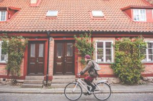 Lund student cycle to university