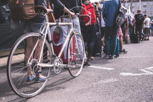 Bicycle queue