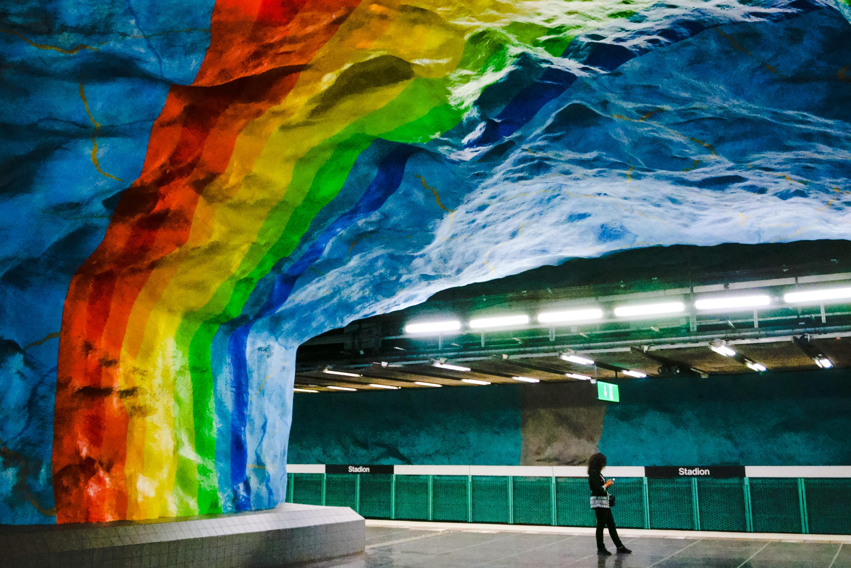 Самые красивые станции Стокгольмского метро