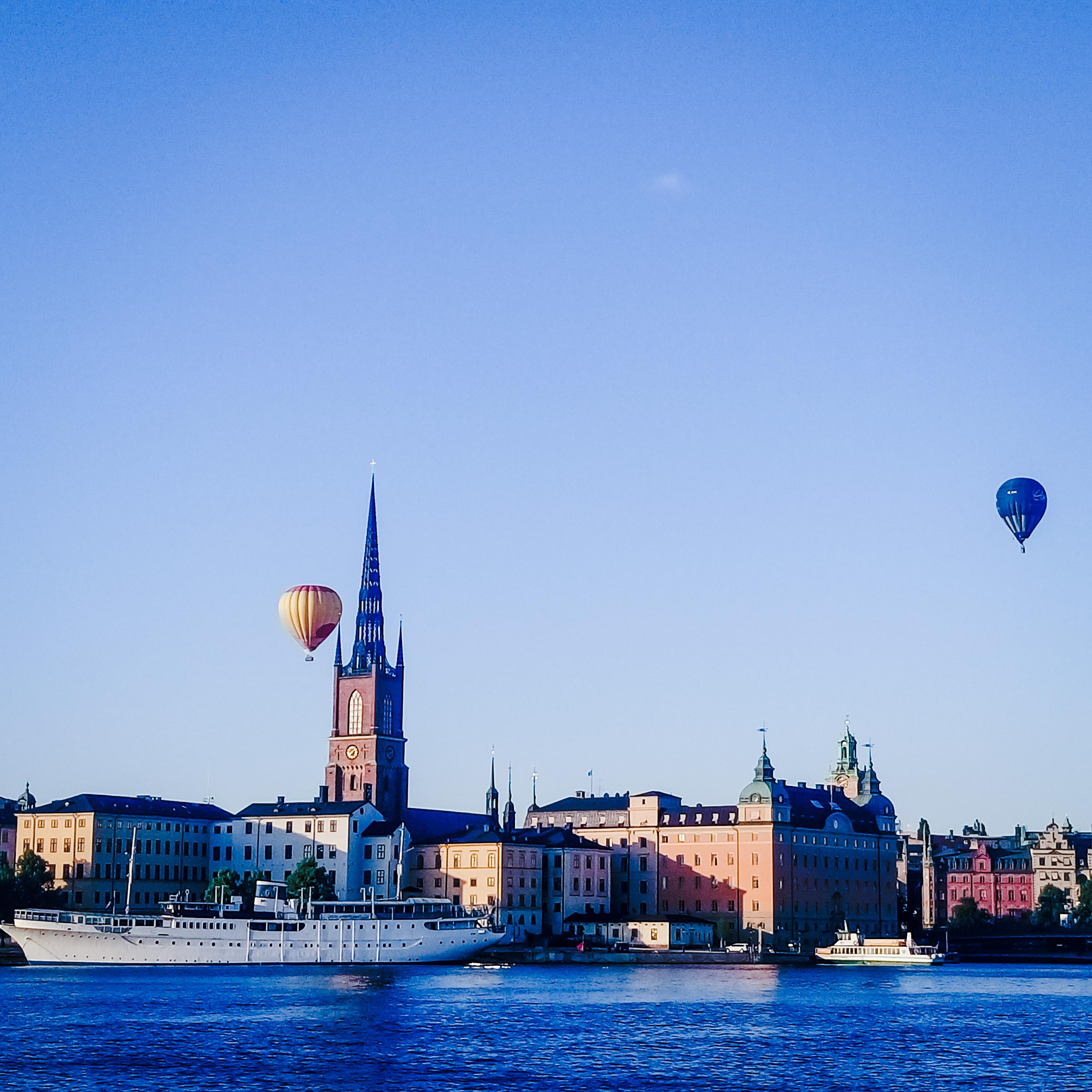 Над Стокгольмом на воздушном шаре